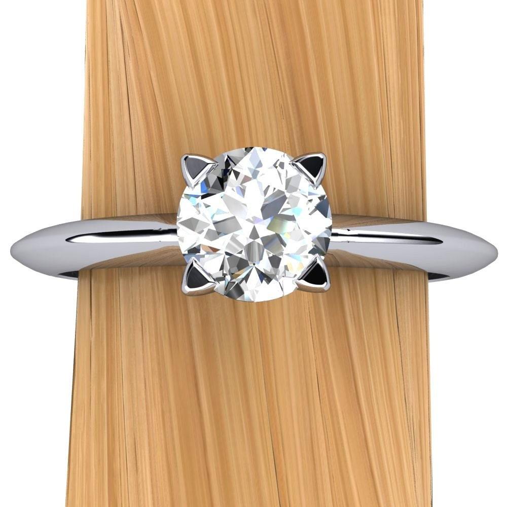 Platinum Diamond Engagement Ring Half Carat Solitaire SI2