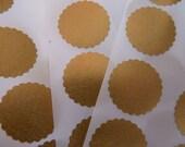 Rich gold Kreis Aufkleber Umschlag Dichtungen mit Bogenkante
