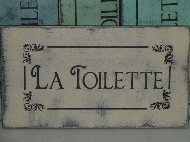 Paris themed bathroom decor - French Vintage Bathroom Signs French Toilet Sign La