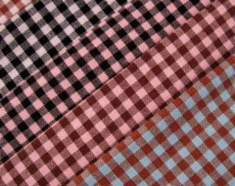"""GINGHAM CHECK 1/8"""" Choose your Color - Cotton Quilt Fabric - by the Yard (16 colors available)"""