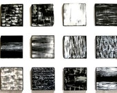 TODAY SALE - Original Painted Wood Wall Art Sculpture Blocks Black, White, Silver - modern art by Rosemary Pierce - artbyRosemary