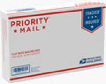Priority mail upgrade small flat rate box