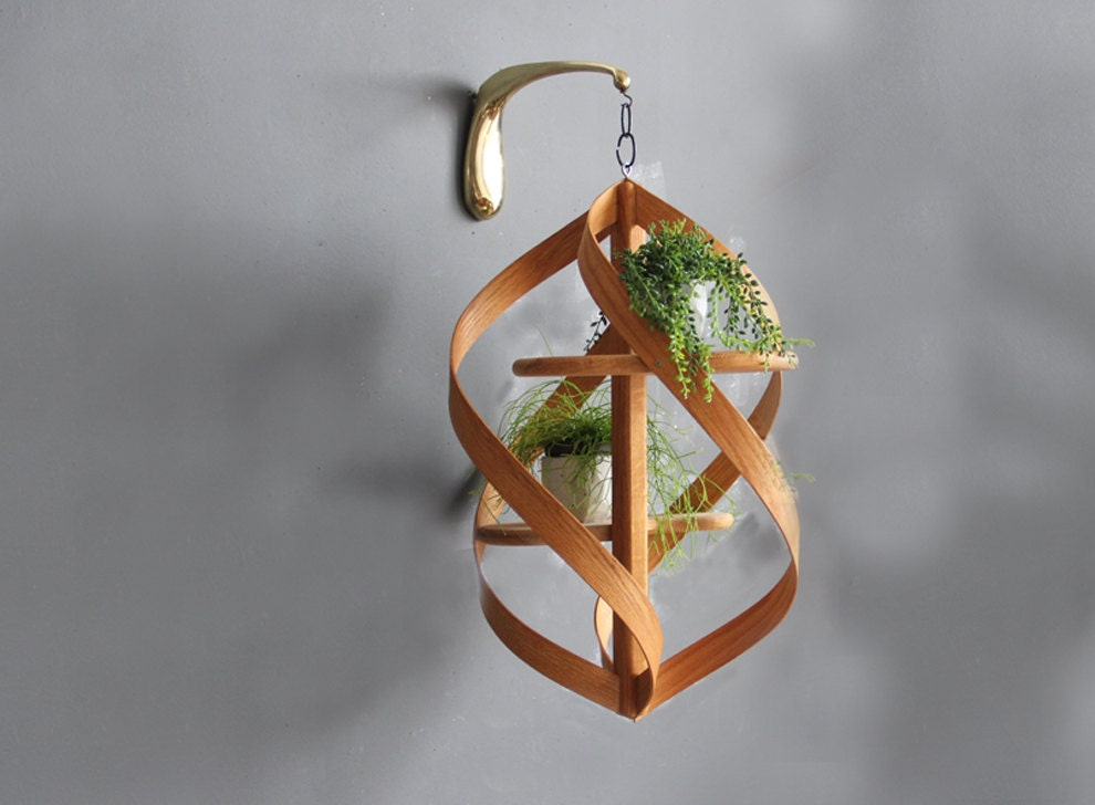 Extra Large Modern Bentwood Hanging Plant Stand on Hanging Plants Stand  id=59894