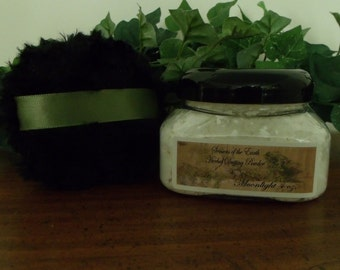 """4 oz. Natural Herbal Dusting Powder w/ Puff """"A-C"""" Scents"""