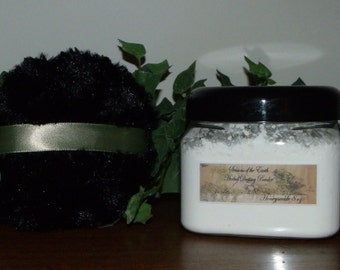"""8 oz. Natural Herbal Dusting Powder w/ Puff """"D-H"""" Scents"""