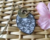 Stained Glass and Hand Stamped Metal Bookmark