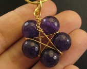 Beaded Pentacle Pendant in Your Choice of Stone and Wire