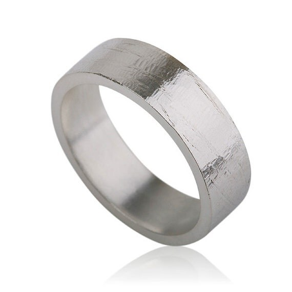 Plain Wedding Ring Simple Wedding Band Textured Wedding