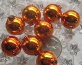 8 Czech Republic Handmade Blown Glass Christmas Garland Beads 18mm Orange  Style R 18 OR