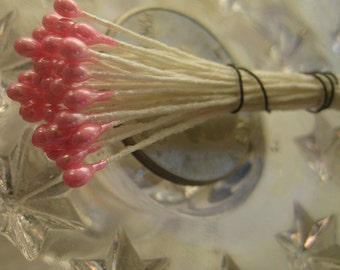 Millinery Flower Stamen Made In Germany 24 Stems 48 Tips Pearly Pink  MNG 246 HP