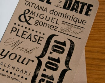 Wedding Subway Art Save the Date Shower InvitationSet of 10 by Belleza e Luce