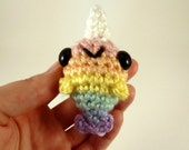 Rainbow Narwhal / Amigurumi Narwhal / Crochet Narwhal / Cute Narwhal Plush - Pastel Rainbow Baby Narwhal Plushie - Made to Order