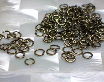 6mm 21 gauge OPEN Antique Bronze Plated Steel Jump Rings 30pcs Jewelry Jewellery Craft Supplies