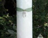 Sacred Sage Purification Candle 3x9.5 . Sage, Cedar, Broom, Mugwort . Clear Negative Energies/Spirits, Spiritual Cleansing