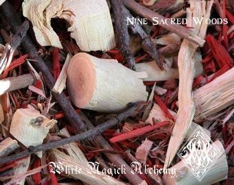 Nine Sacred Woods Ancient Cauldron Blend 2oz . Celtic and Druid Workings, Spiritual Enlightenment