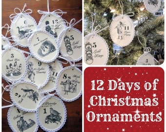 Twelve Days of Christmas Ornaments Instant Download Epattern
