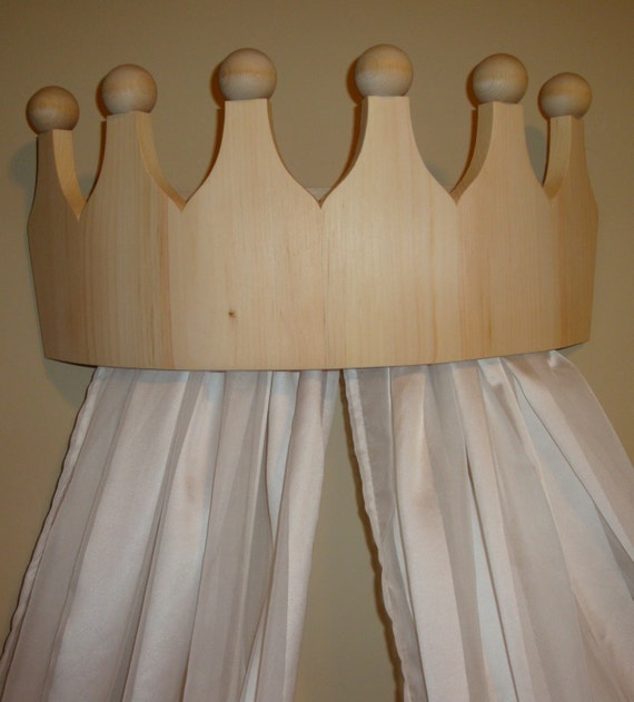 Princess Bed Canopy Girl Crown Pelmet Upholstered Awning: Items Similar To Princess Bed Crown Valance / Canopy