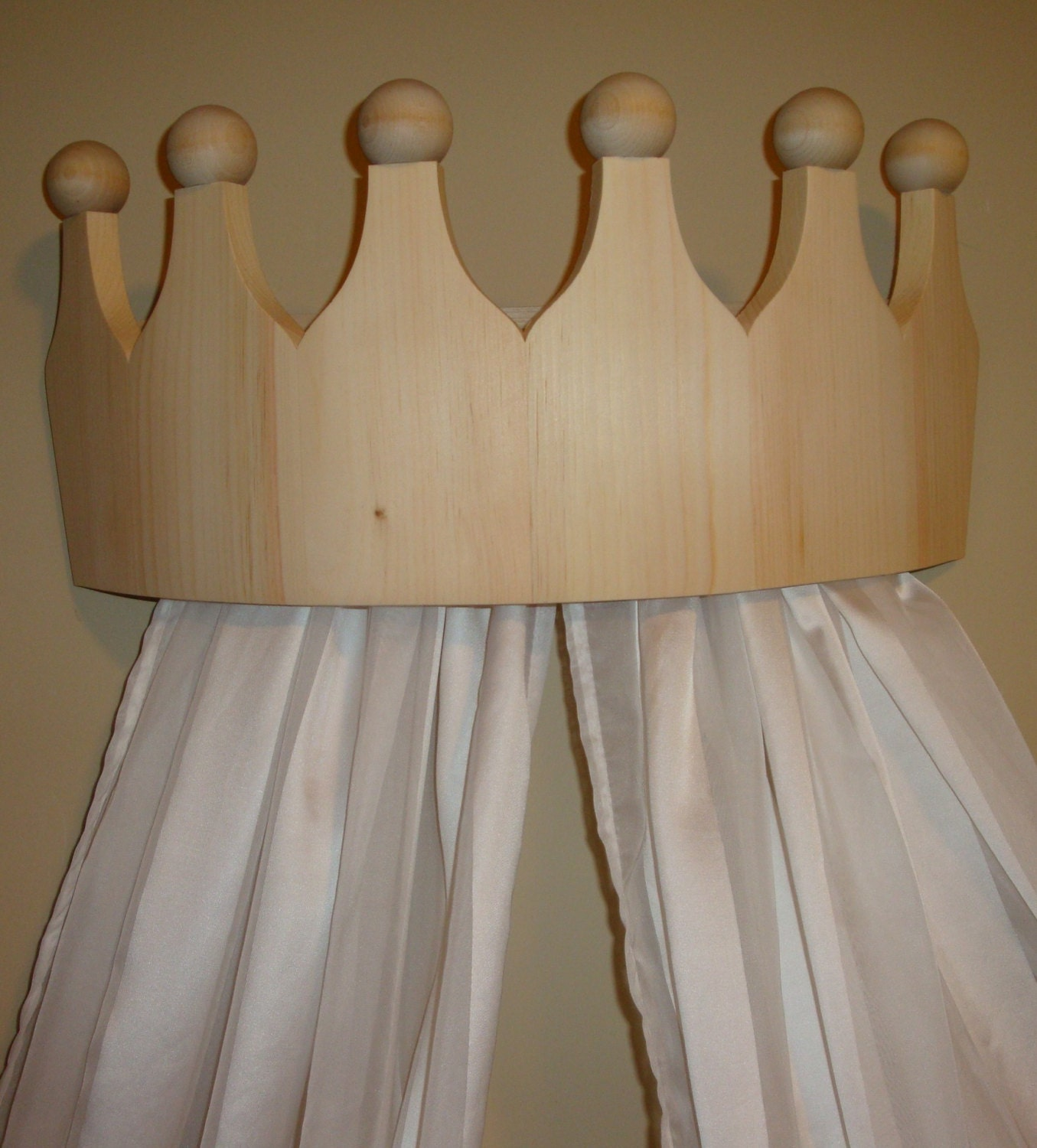 Princess Bed Canopy Girl Crown Pelmet Upholstered Awning: Princess Bed Crown Valance / Canopy / Cornice For Girls Room