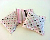 Pink and Brown Polka dot Lavender Sachets