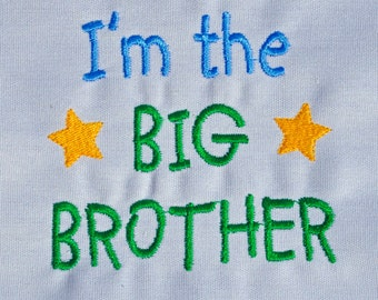 I'm the big brother shirt with name monogram available