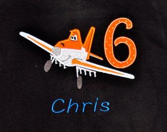 Disney Planes birthday shirt with name monogram