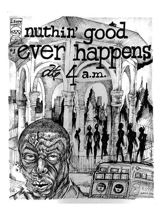 Nuthin Good Ever Happens at Four A.M. Comic book