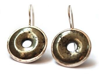 Pyrite Loop Earrings