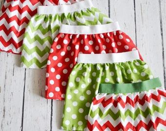 Holiday Skirt Sale RED POLKA DOT overstock