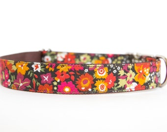 Flower Fall Dog Collar - Liberty of London Autumn Blossoms