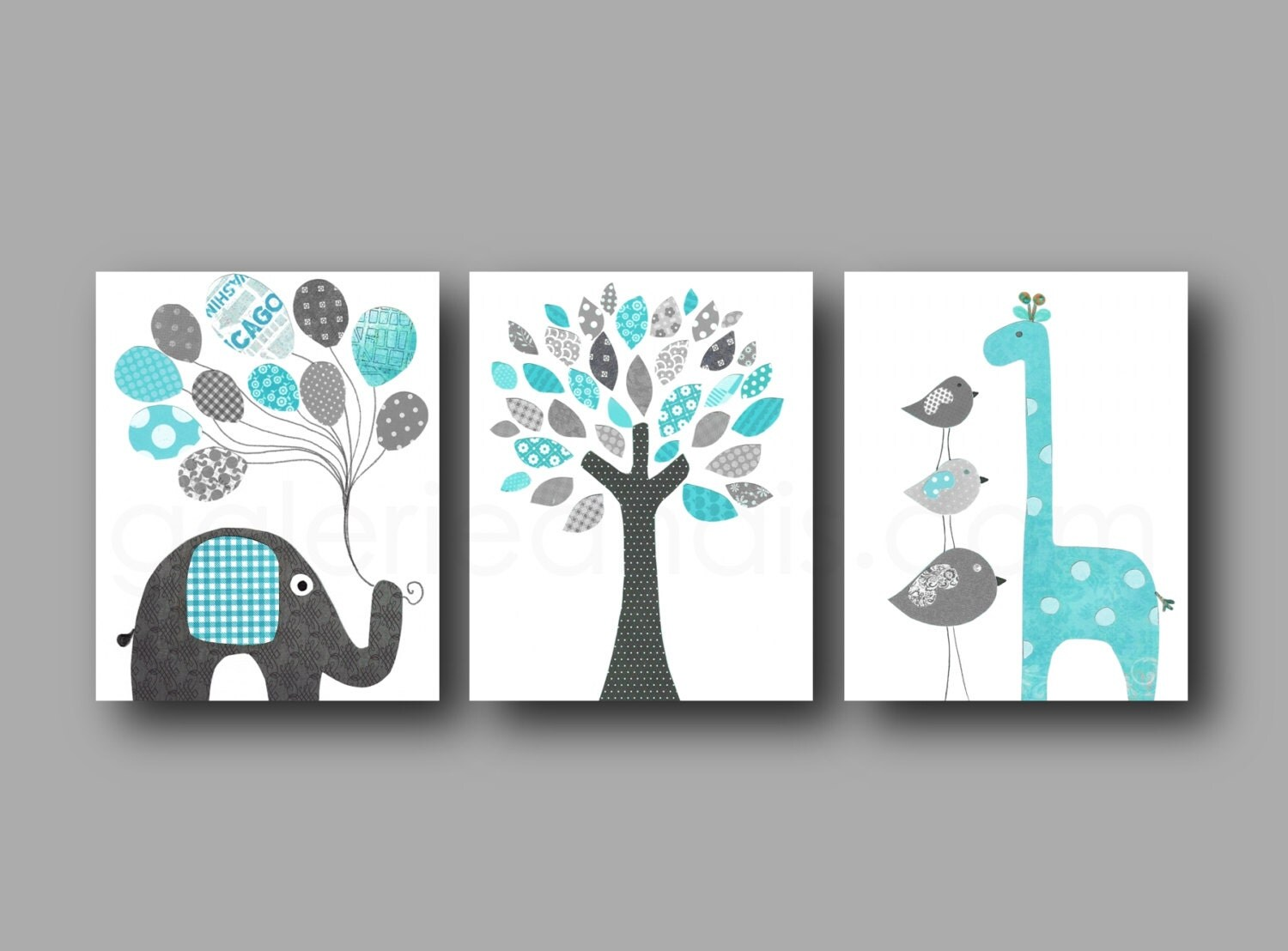elephant nursery giraffe nursery art for children by galerieanais. Black Bedroom Furniture Sets. Home Design Ideas