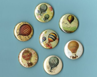 Hot Air Balloon MAGNETS set of SIX