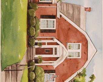 Custom Watercolor House Portrait - 11x14