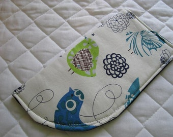 CUSTOM MADE to Order Sunglass or Eyeglass Case Blue Birds Whimsical Whimsy