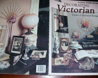 Thread Crochet Pattern Decorating Victorian Leisure Arts 2108 Pattern Leaflet