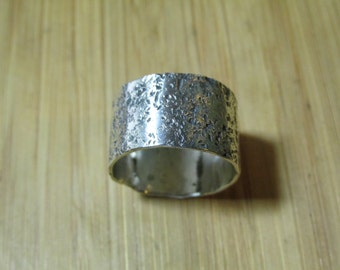 Sterling Silver Textured Stackable Ring size 8 1/2