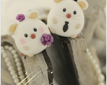 mouse / rat  and mice Wedding Cake Topper--k772