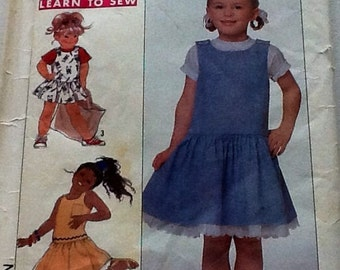 Sewing pattern, Girl Dress Size 3-5