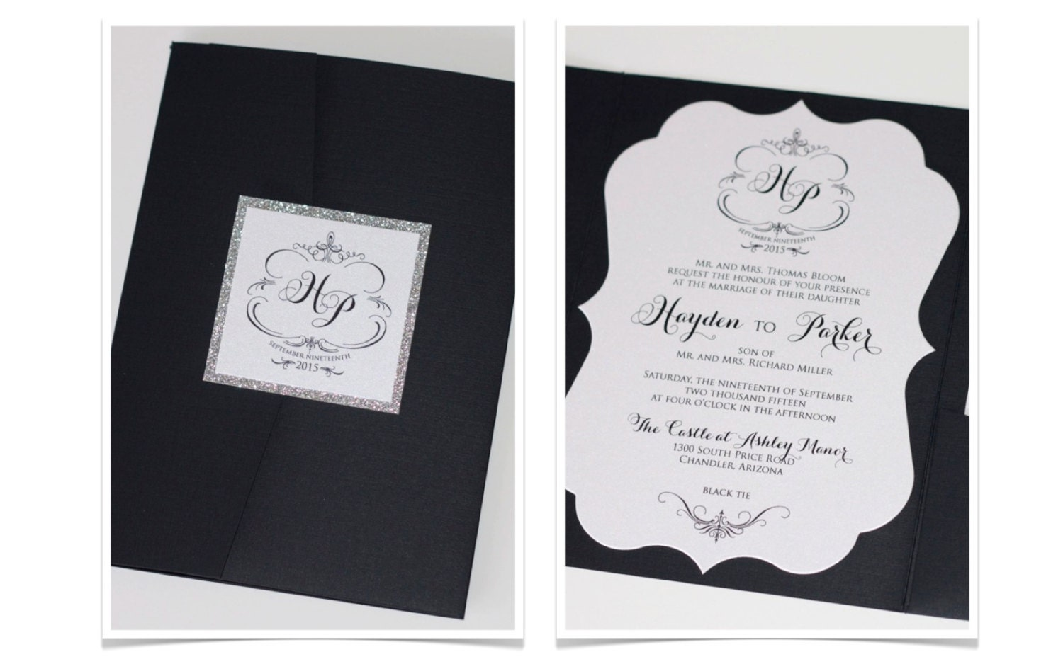 Attractive Simple Black And White Wedding Invitations Pictures ...