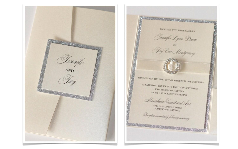 Wedding Invitations Elegant: Glitter Wedding Invitation Elegant Wedding Invitation