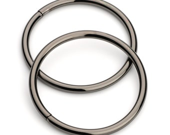 "10pcs - 2"" Metal O Rings Non Welded Black Nickel - Free Shipping (O-RING ORG-135)"