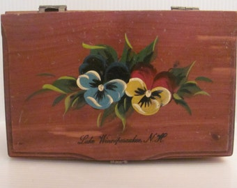Vintage Wooden Trinket Box