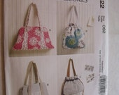 McCalls Purse Pattern M6522 for Bags by Laura Ashley / McCalls Fashion Accessories  Pouch or flat style Bag / New Uncut Sewing pattern