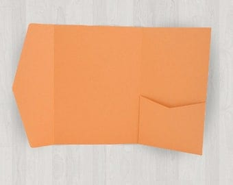 10 Vertical Pocket Enclosures - Oranges - DIY Invitations - Invitation Enclosures for Weddings and Other Events