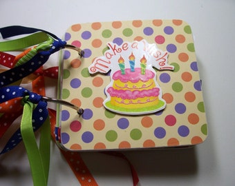Birthday Mini Scrapbook Album, Birthday Chipboard Album, Birthday Scrapbook, Birthday Mini Album, Birthday Photo Album, BirthdayBook