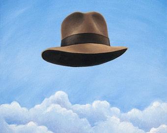 Henry's Hat - Surrealist Indiana Jones tribute art.