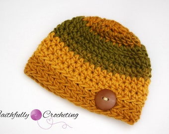 Newborn Fall Hat... Photography prop.. Ready to ship... Browns are greens