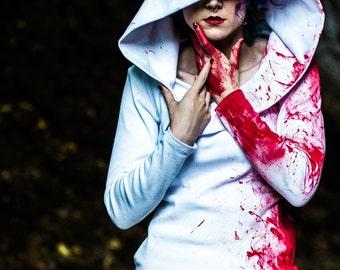 Adult Halloween Costume - Blood Splatter Dress - Apocalypse Zombie Outfit - Sexy Nurse - Custom Petite to Plus Size XXS- 5XL