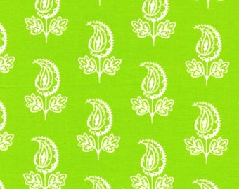 LAST 2 Yards Pillow and Maxfield Collection PAISLEY FLOWER in Green