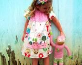 Apron Dress - Girls Apron Dress - Matryoshka Doll