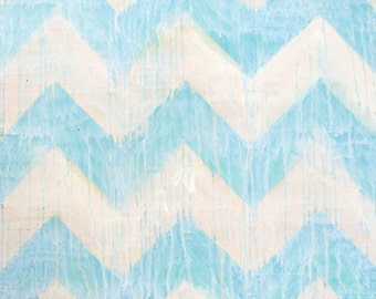 Chevron Pattern Acrylic Painting: Can Be Custom-Ordered